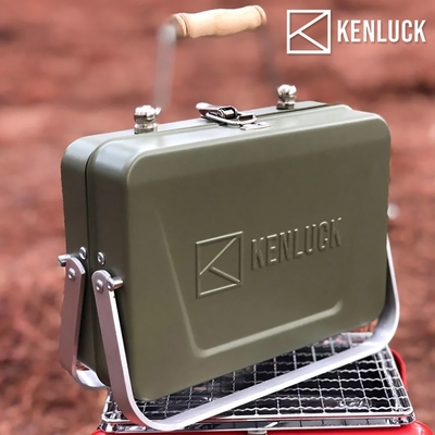 【KENLUCK】迷你攜帶型烤肉架Mini Grill 史丹綠