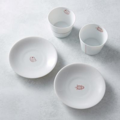 有種創意 - 日本美濃燒 - 緣起福物杯盤組(4件式)