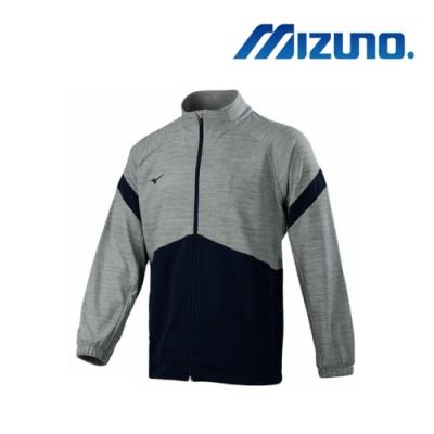 Mizuno 美津濃 男針織運動外套 麻花灰x深丈青 32TC953481