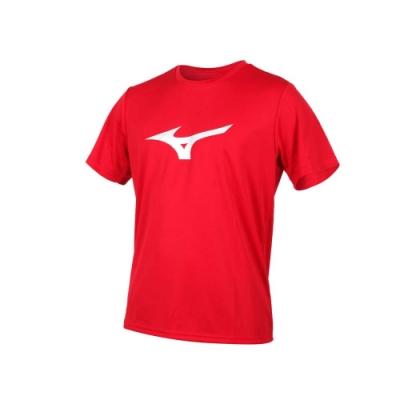 MIZUNO 男 短袖T恤 紅銀