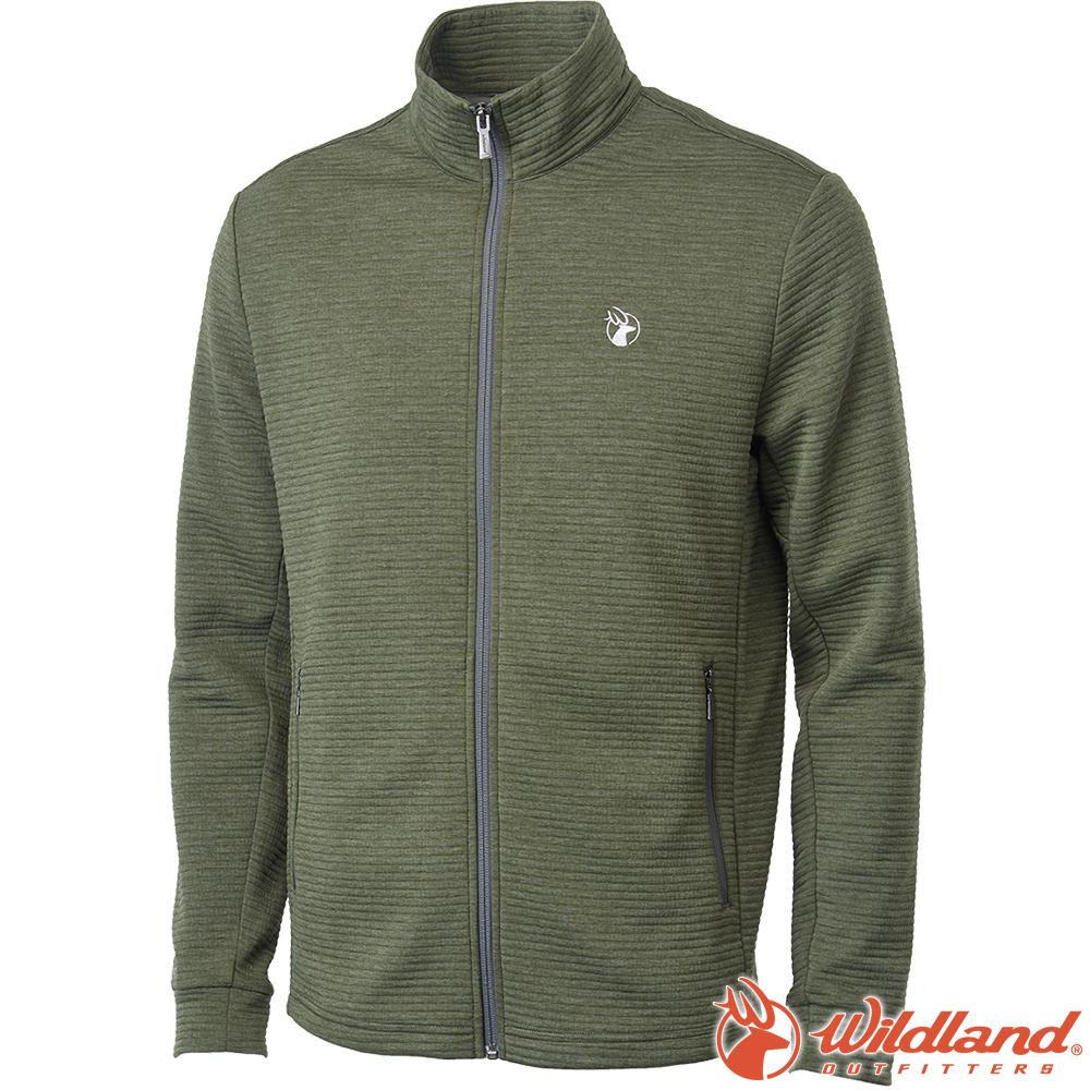 Wildland 荒野 0A62610-48深墨綠 男彈性針織時尚保暖外套