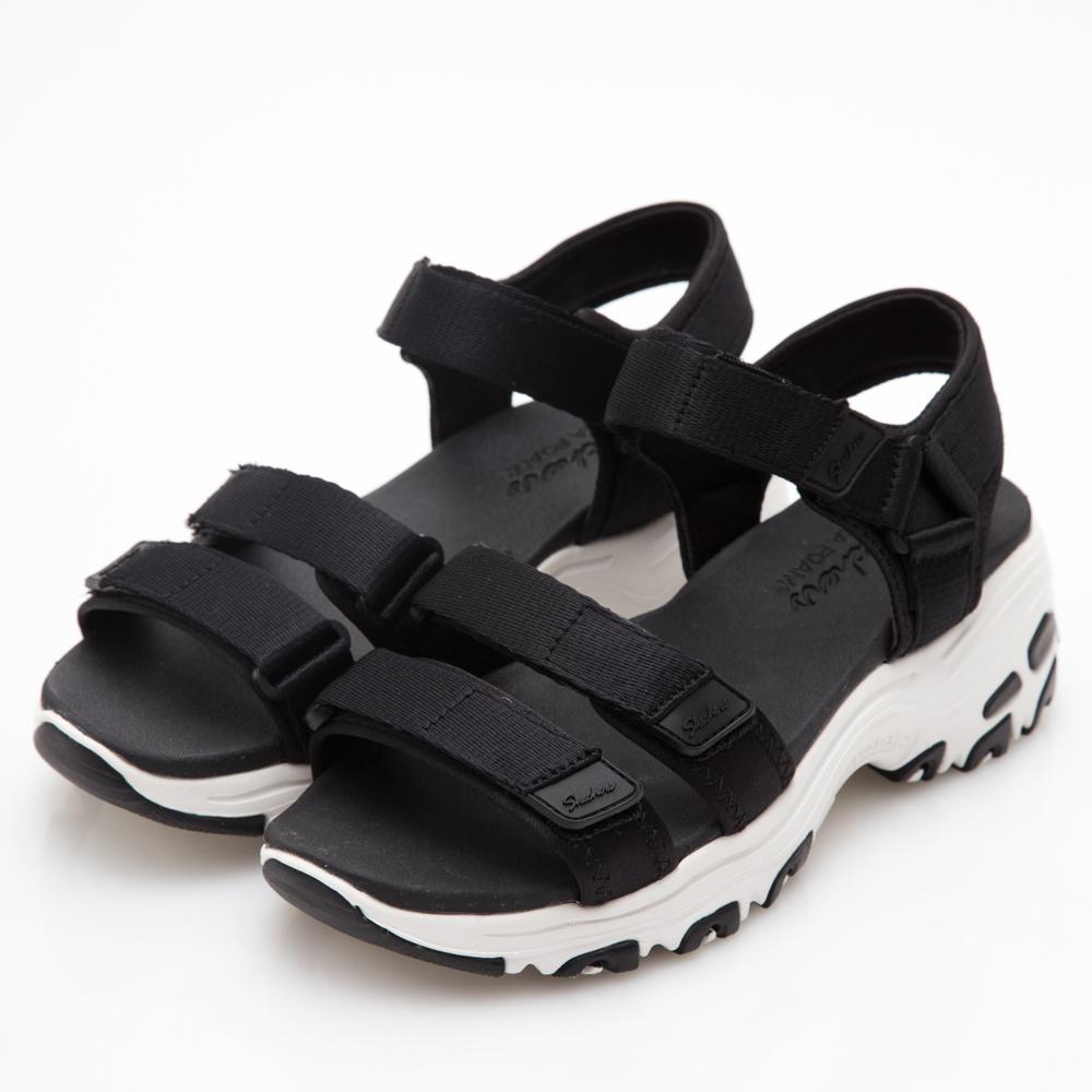 SKECHERS (女) 時尚休閒系列 DLITES 涼鞋 - 31514BLK