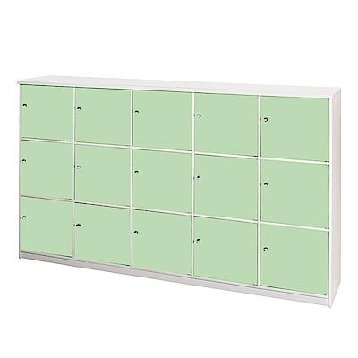 文創集 艾倫環保7尺塑鋼15門格置物櫃/收納櫃-210x42x133.5cm-免組