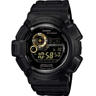 G-SHOCK 黑金極限運動風太陽能錶(G-9300GB)53mm