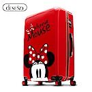 Disney 米奇奇幻之旅 24吋PC鏡面拉鍊行李箱-紅色