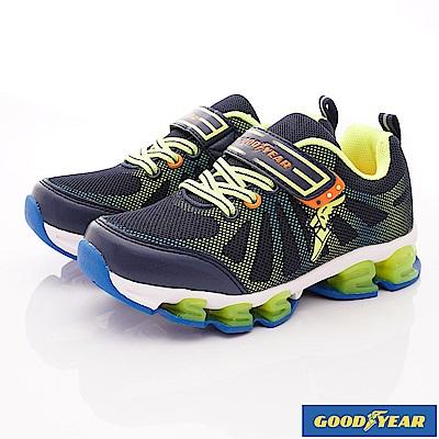 GOODYEAR戶外童鞋 飆風競速運動鞋 EI6006藍(中大童段)