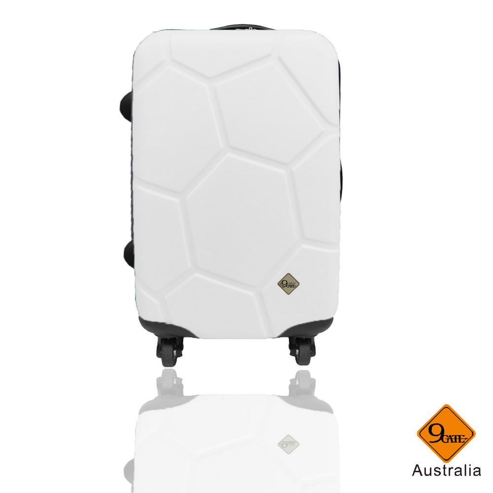 Gate9 足球系列經典24吋 輕硬殼旅行箱行李箱-白色