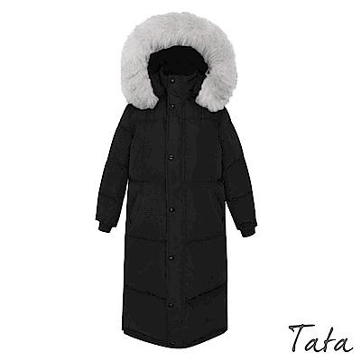 長版刺繡鋪棉連帽外套 TATA