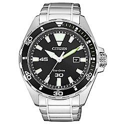 CITIZEN星辰 光動能水上運動風格腕錶(BM7451-89E)-銀x黑/43.5mm
