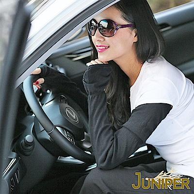 JUNIPER 日系抗UV防曬騎行運動涼感紗針織加長版袖套