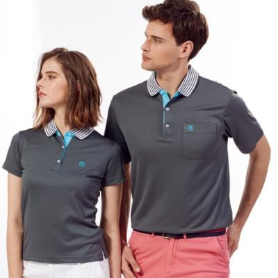 Abel Fox s Sports灰色線條領男版短袖POLO衫-WER505-16