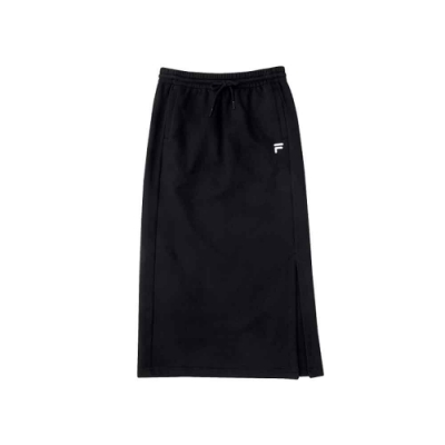 FILA 女針織長裙-黑色 5SKU-5479-BK