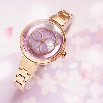 RELAX TIME 綻放系列粉紫櫻腕錶RT-72-6