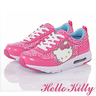 HelloKitty 蘋果豹紋系列 抗菌防臭記憶鞋墊運動休閒童鞋-桃