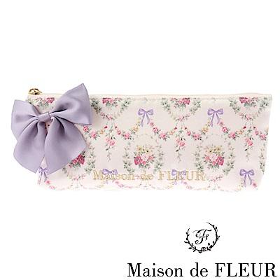 Maison de FLEUR 花卉蝴蝶結配飾化妝包