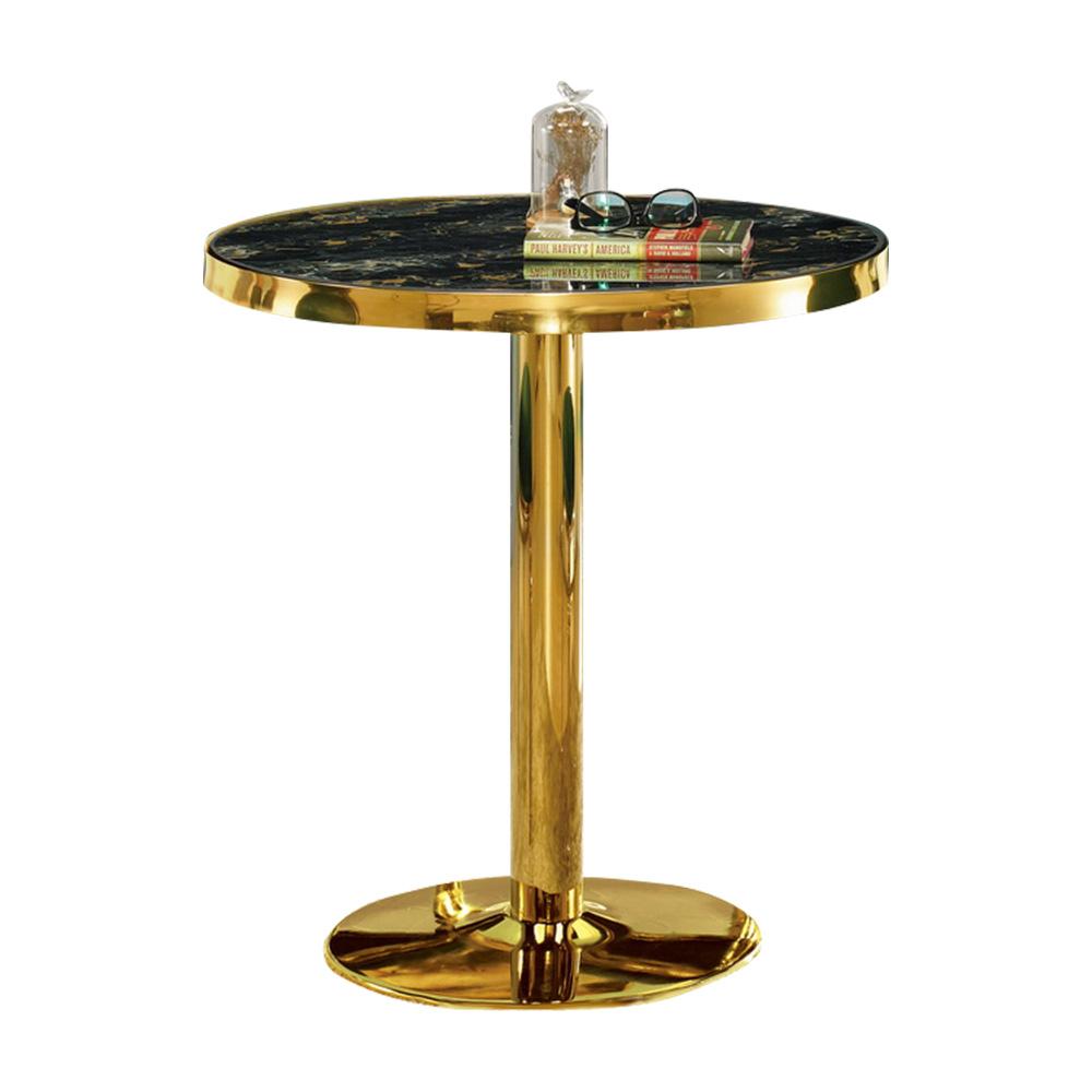 Bernice-賽莉娜2.4尺玻璃圓形洽談桌/休閒桌-71x71x77cm