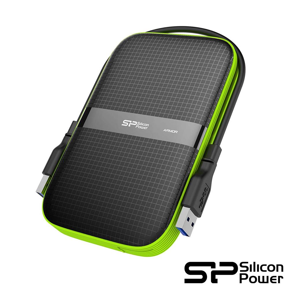 SP廣穎 Armor A60 5TB(黑綠) 2.5吋軍規防震行動硬碟