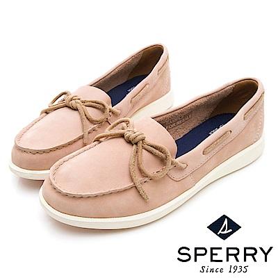 SPERRY 頂級牛皮經典手工縫製帆船鞋(女)-粉色