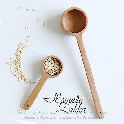 Homely Zakka 木趣食光自然深型木質湯匙/咖啡豆勺-大(27cm)