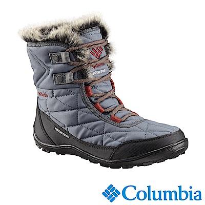 Columbia哥倫比亞 女款-防水自體發熱保暖雪靴-藍灰UBL59310GL