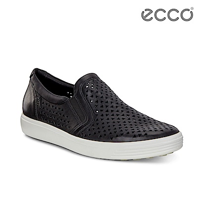 ECCO SOFT 7 W 幾何鏤空輕盈厚底鞋 女-黑