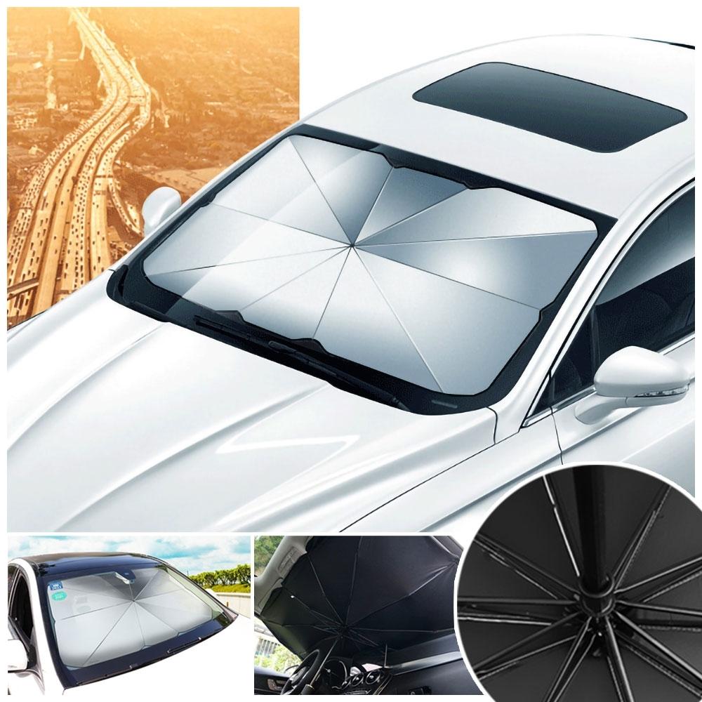 第二代反光鈦銀防曬隔熱車用遮陽傘