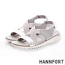 HANNFORT Ultra Flex 3D金屬感時尚交叉涼鞋-女-銀河灰