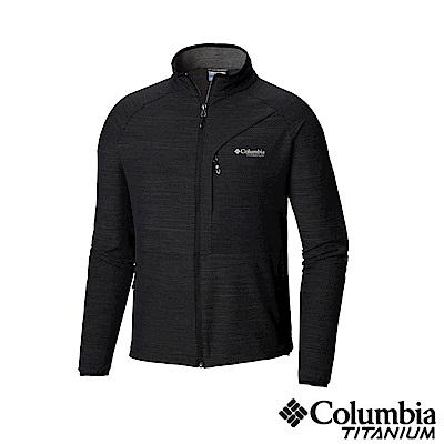 Columbia 哥倫比亞 男款-鈦 防潑彈性外套-黑色 UAE06840BK