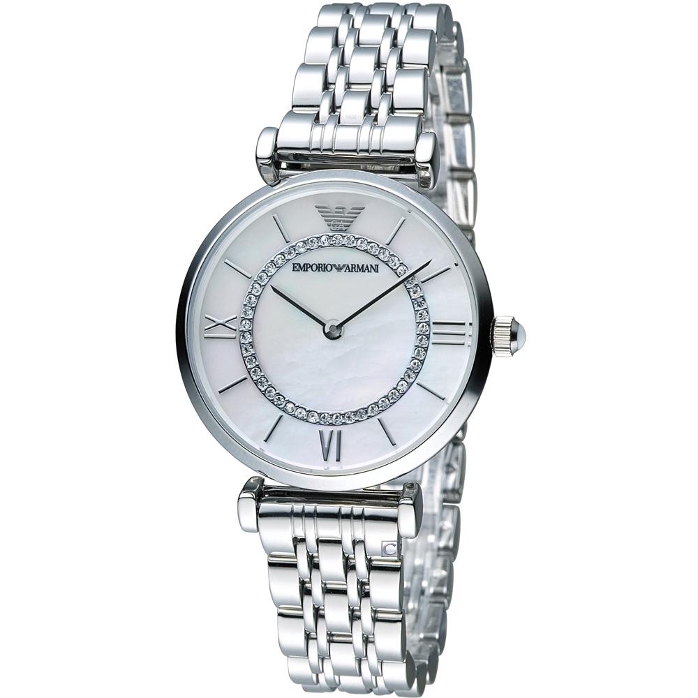 EMPORIO ARMANI 晶鑽優雅時尚腕錶(AR1908)32mm