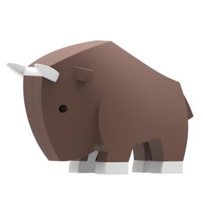 【HALFTOYS 哈福玩具】3D動物樂園:GNU角馬 STEAM教育玩具