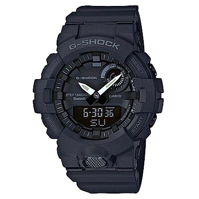 G-SHOCK 完美城市運動休閒概念藍芽錶-黑(GBA-800-1A)黑色/48.6mm