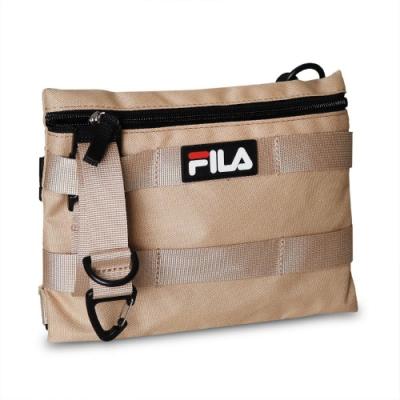 Fila 斜背包 Workwear Shoulder Bag 斐樂 小包 外出 輕便 附小零錢包 黃褐 黑 BMV3007KK