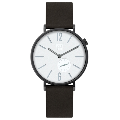 ZOOM LEAK 黎刻簡約小秒腕錶 -白 / 41 mm