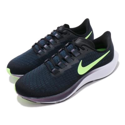 Nike 慢跑鞋 Zoom Pegasus 37 運動 男鞋 氣墊 避震 包覆 路跑 健身 小飛馬 黑 藍 BQ9646001