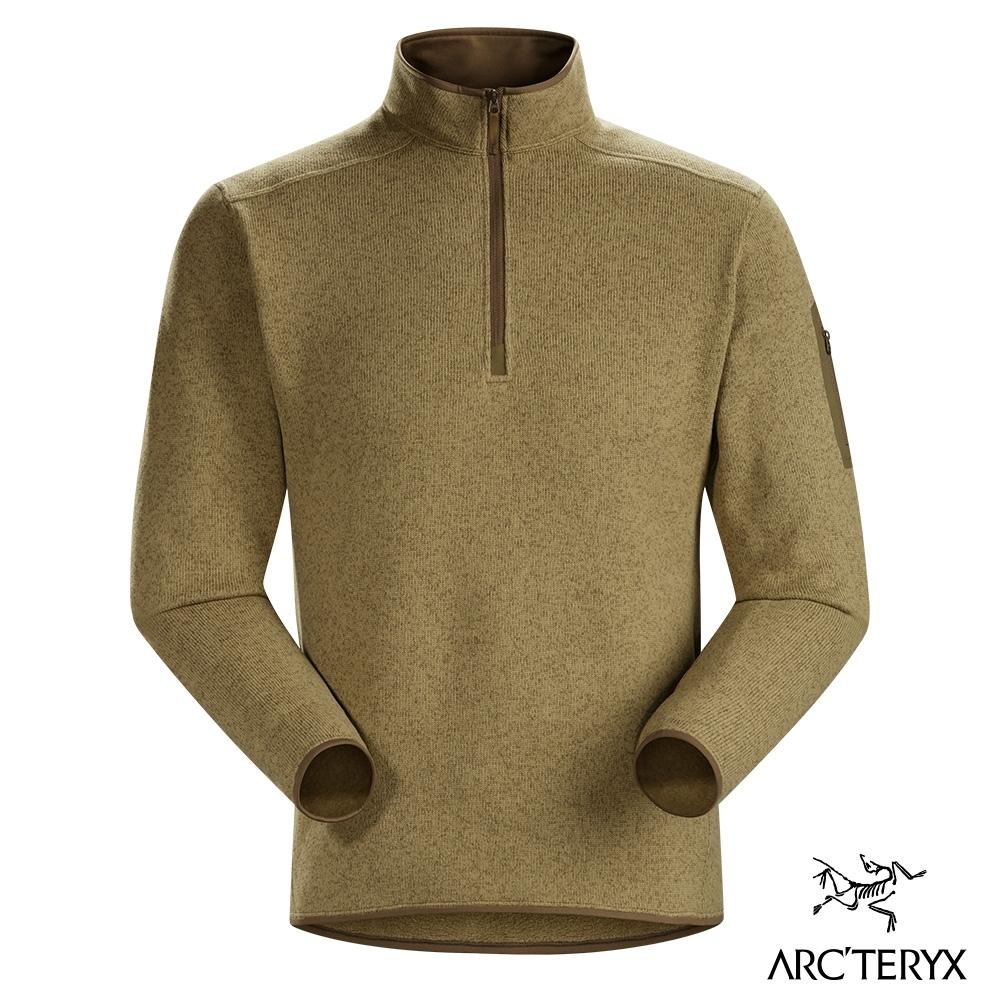 Arcteryx 始祖鳥 男 24系列 Covert 1/2 刷毛套頭衫 歐瓦米雜棕