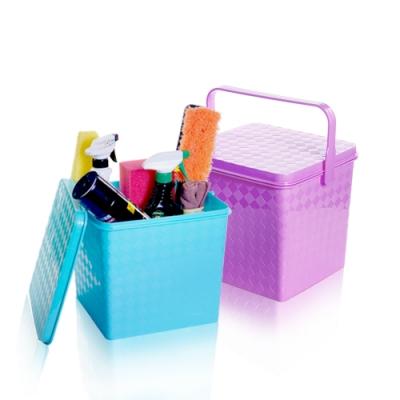 【酷立潔】3D立體菱格紋 多功能收納桶(顏色隨機)洗車園藝 釣魚露營 居家收納