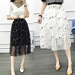 【韓國K.W.】日本設計浪漫蕾絲美感裙-2色