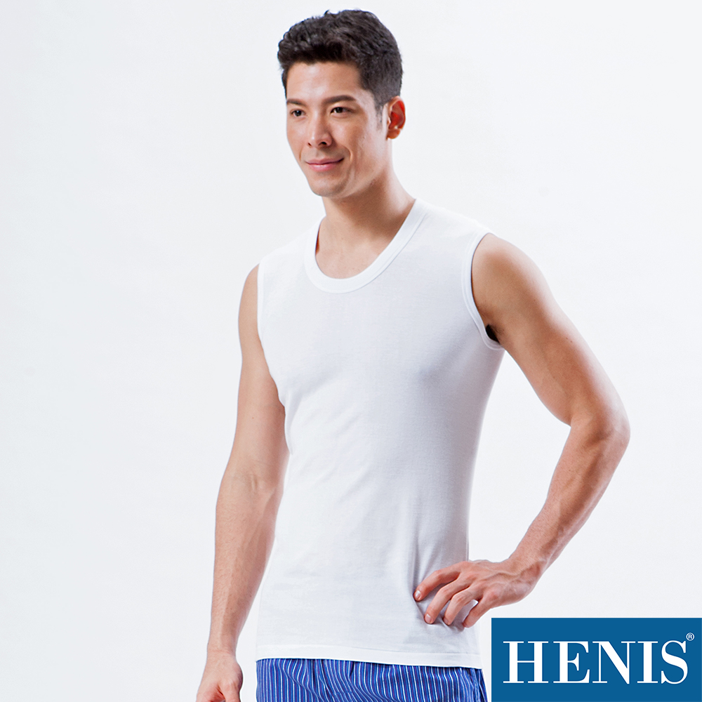 HENIS 純棉寬肩背心(3入)