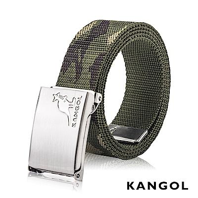 KANGOL EVOLUTION系列 英式潮流休閒自動釦皮帶-軍綠迷彩 KG1181