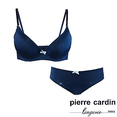 Pierre Cardin皮爾卡登 C罩 愛戀蕾絲內衣(成套-藍)