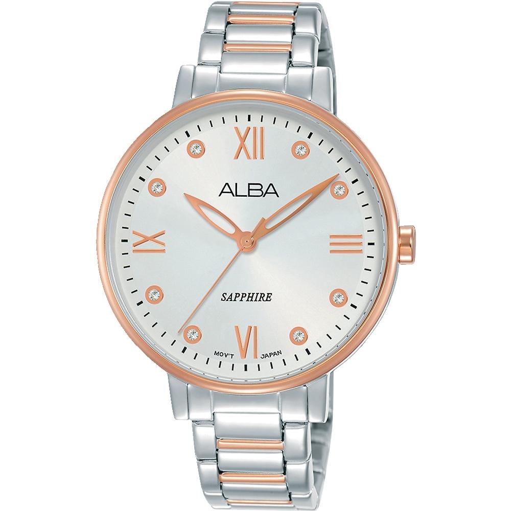 ALBA 浪漫晶鑽時尚女錶(AH7T40X1)36mm/VJ21-X155KS