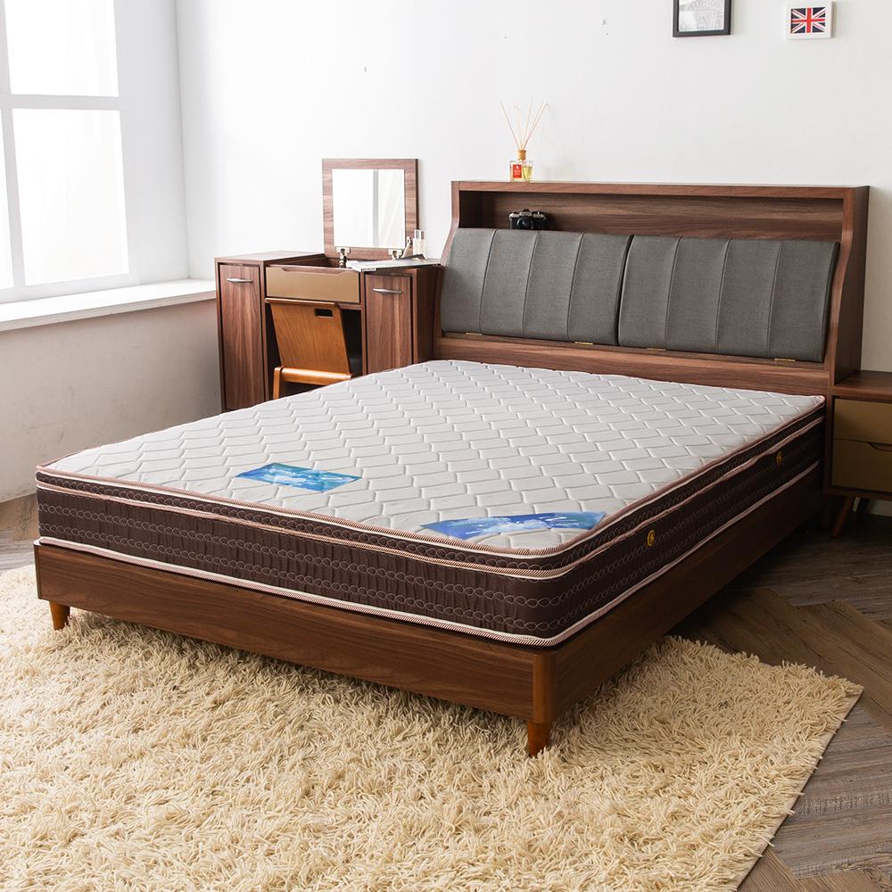 時尚屋 雷諾德雙色三線6尺加大雙人獨立筒彈簧床墊