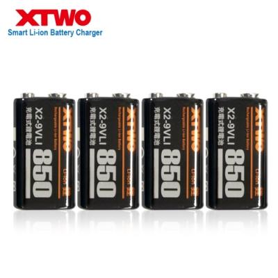 XTWO 高容量850型 9V鋰充電電池-4入