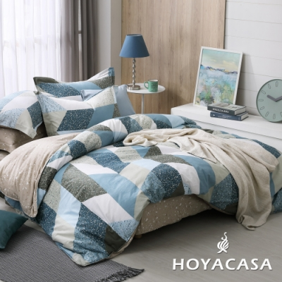 HOYACASA交響序曲 加大四件式純棉兩用被床包組(天絲入棉30%)