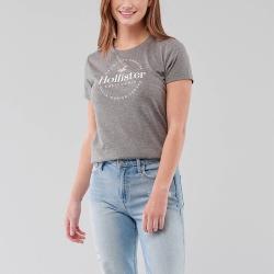 海鷗 Hollister HCO 經典印刷文字大海鷗短袖T恤(女)-灰色