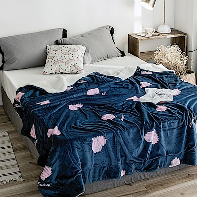 BUNNY LIFE 甜心-極柔牛奶絨羊羔絨雙層保暖毯