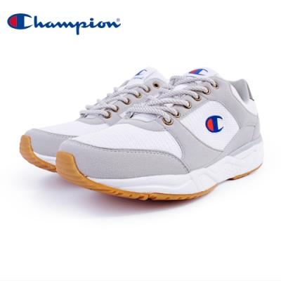 【Champion】HONEST 復古慢跑鞋 男鞋-白/灰(MFUS-9019-10)