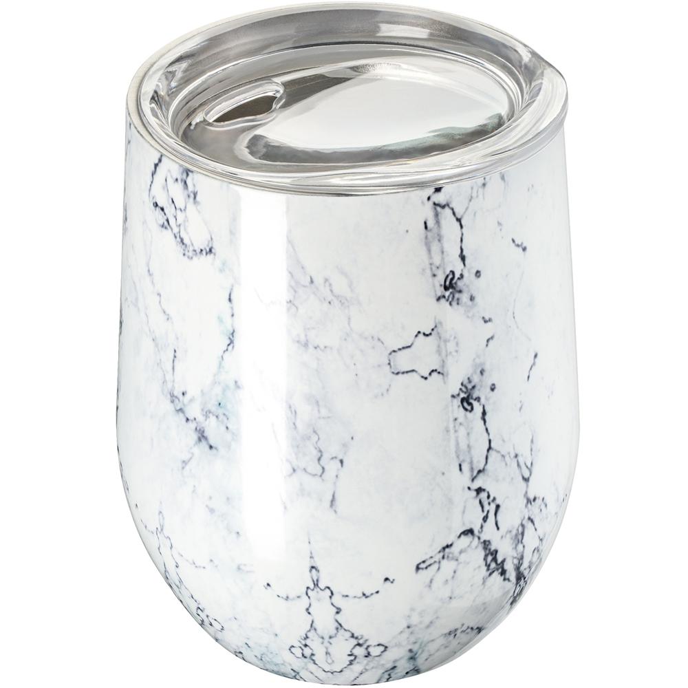 《REFLECTS》附蓋雙層不鏽鋼杯(石紋350ml)