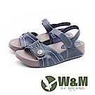 W&M 厚底氣墊魔鬼氈涼鞋 女鞋-藍(另有橘)