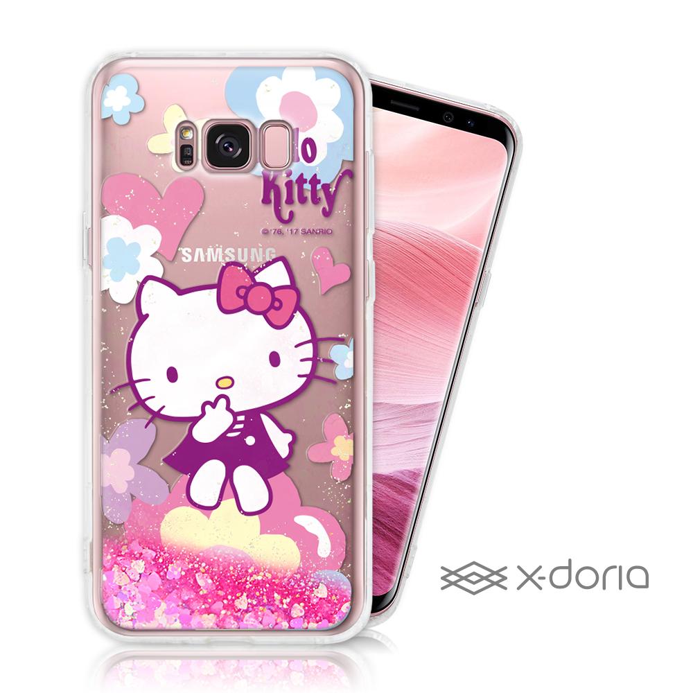 Hello Kitty SAMSUNG S8 Plus 亮片流沙手機軟殼 - 花漾
